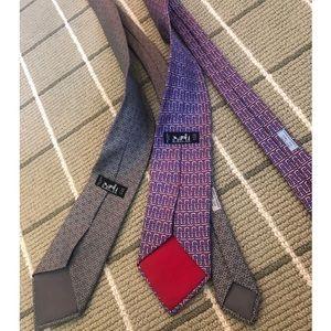 2 Hermès ties, barely worn